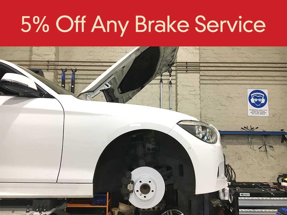 5% Off Brakes